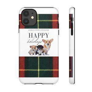 Corgi Lovers Happy Holidays iPhone 11 Phone Case